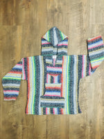 Light Multicolor Mexican Kids Hoodie Poncho 10
