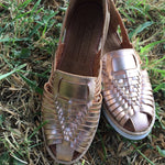 Mexican Leather Sandals Rose Gold - Cielito Lindo Mexican Boutique