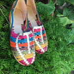 Mexican Leather Sandals Metallic Multicolor - Cielito Lindo