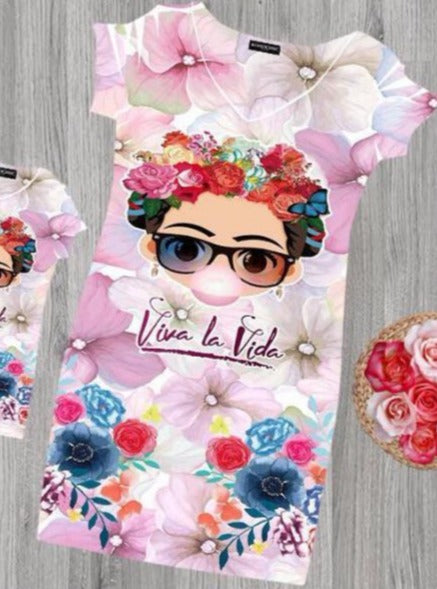 Frida Kahlo Bodycon Mini Dress Viva la vida - Cielito Lindo