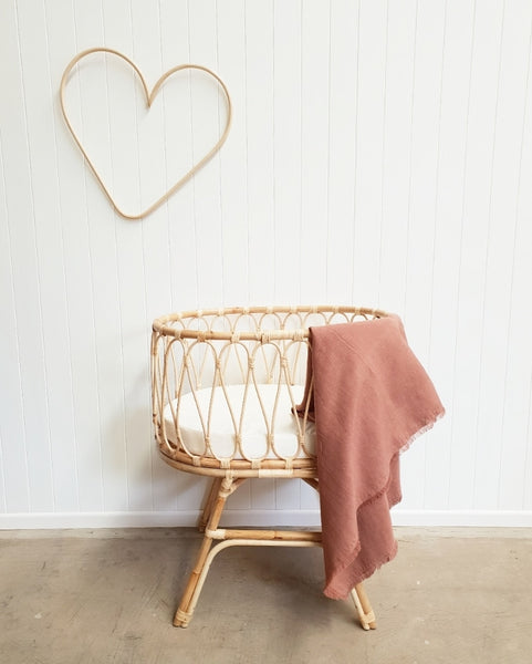 Isla Natural Rattan Bassinet