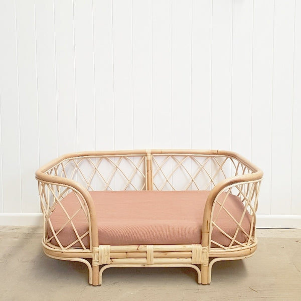 Bella Rattan Dog Bed