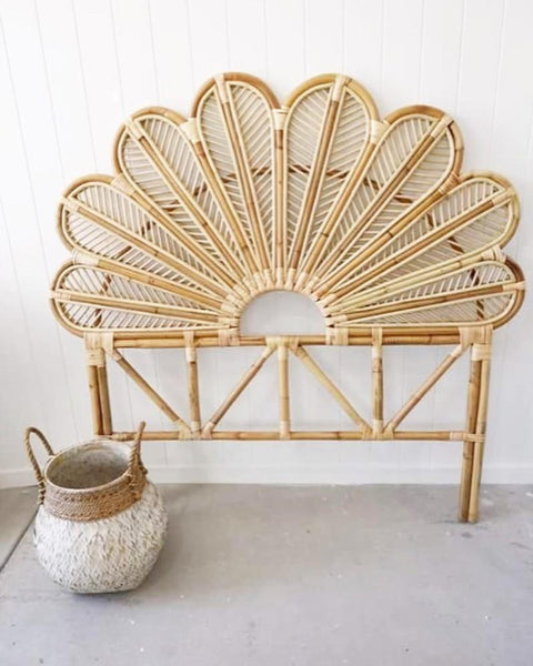 Petal Rattan Bed Head - PRE ORDER FOR MAY