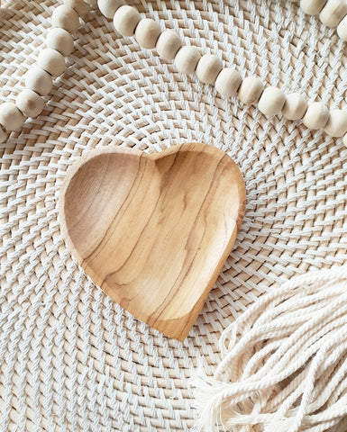 Heart timber dish NOVEMBER DELIVERY