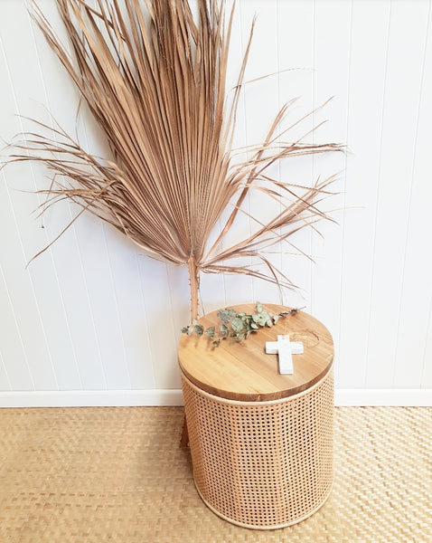 Willow rattan side table PRE ORDER FOR NOVEMBER