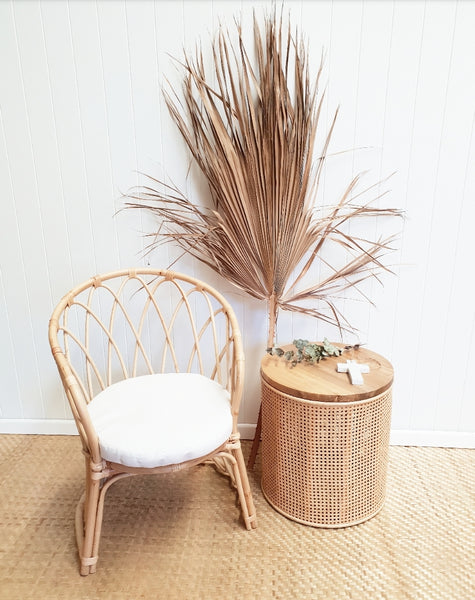 Ava rattan side table PRE ORDER FOR NOVEMBER