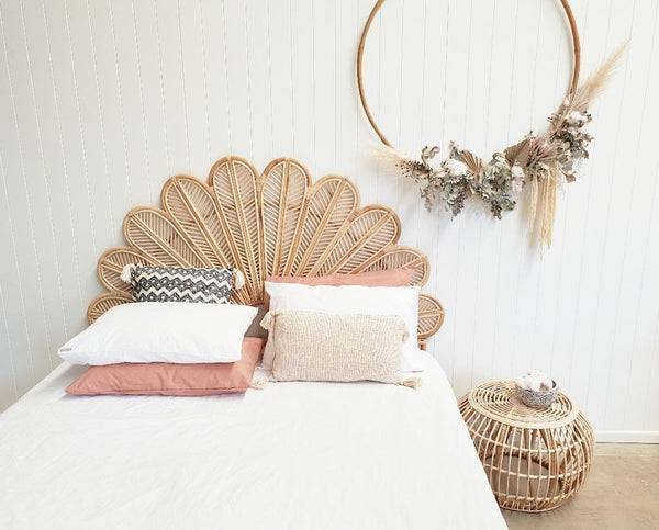 Petal Rattan Bed Head - PRE ORDER FOR SEPTEMBER