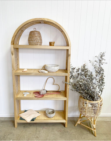 Hannah Rattan and timber shelves