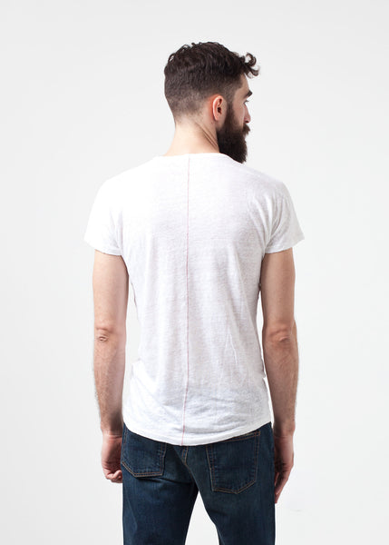 Comfort Tee in White Linen - Demo