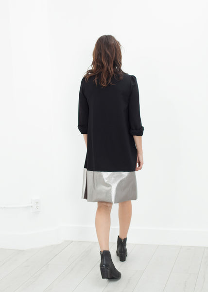 Border Dress in Black/Silver - Demo