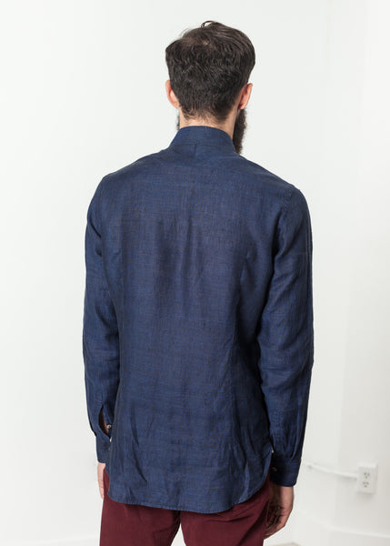 Button Up Shirt in Navy - Demo