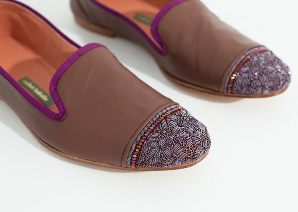 Bizi Cap Toe Loafer in Rose/Aubergine - Demo