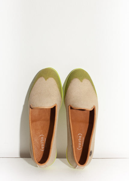Wingtip Loafer in Lime