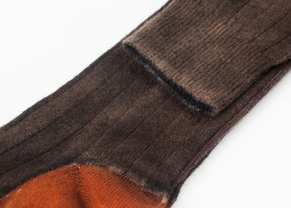 Cashmere Knit Sock in Bronze - Demo