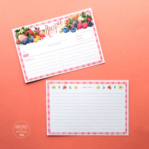 "Nimasprout ""Berries"" Recipe Cards - 4x6"