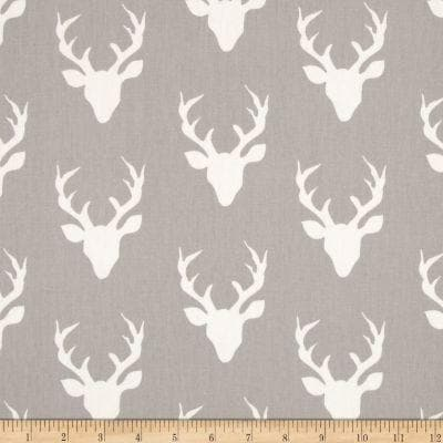 Twin, Full, or Queen Comforter - Buck in Light Gray