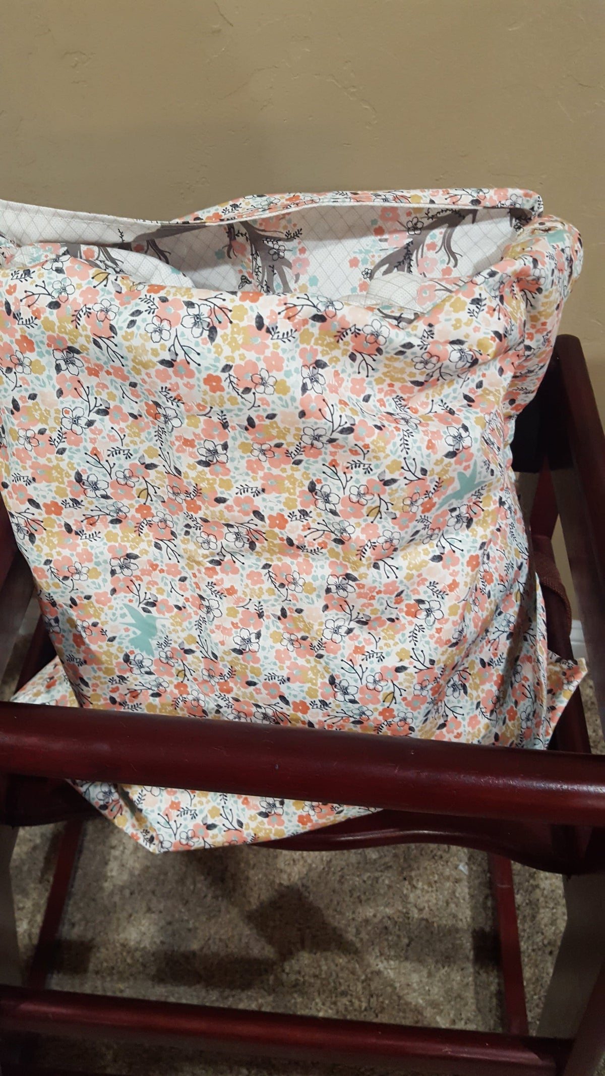 Cart Cover- Fawn and Meadow Flowers Bag Highchair/Cart Cover