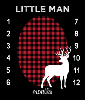 Growth Blanket - Little Man, Buck, Red Black Buffalo Check