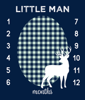 Growth Blanket -  Little Man Deer
