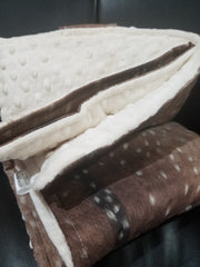 On the Go Changing Pad-Deer Skin Cotton -Woodland