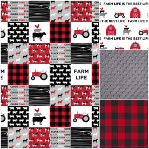 farm nursery set, tractor crib bedding