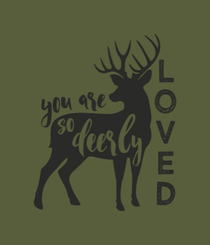 Standard Blanket- You Are So Deerly Loved  Deer Blanket