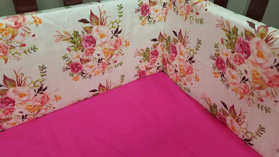 Custom Girl Crib Bedding - Antique Floral, Barnwood, and Fawn Minky, Rustic Crib Bedding