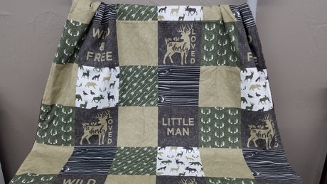Blanket - Little Man Blanket or Comforter -Baby, Toddler, Twin, Full, Queen
