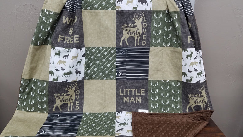 Twin, Full, or Queen Comforter- Little Man and Deerly Loved Deer