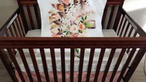 Custom Girl Crib Bedding  - Aztec Headdress