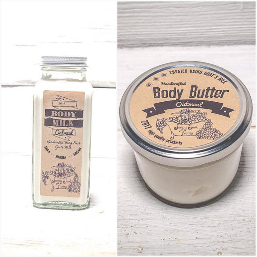 Organic Goat Milk Lotion or Body Butter -  Oatmeal