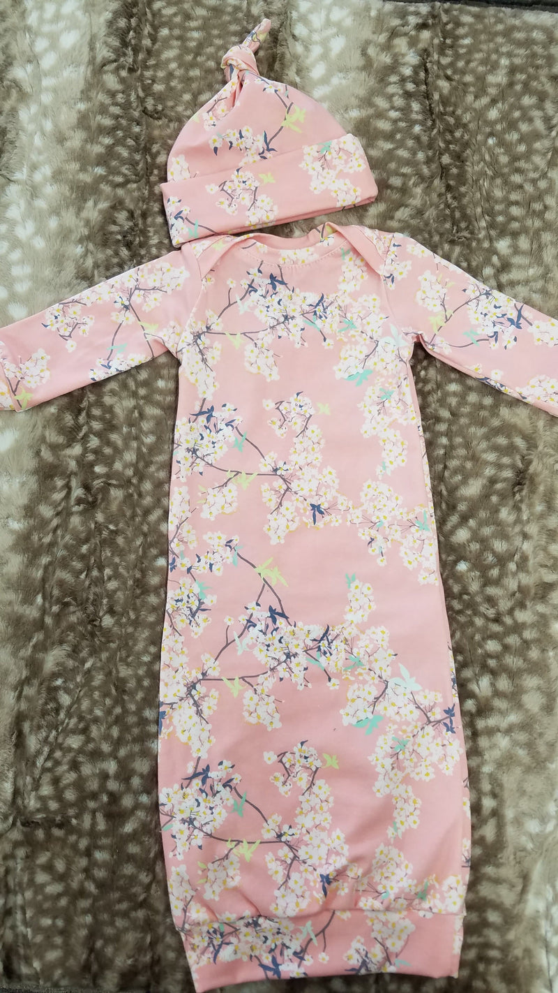 Baby Gown -  Cherry Blossom Going Home Outfit