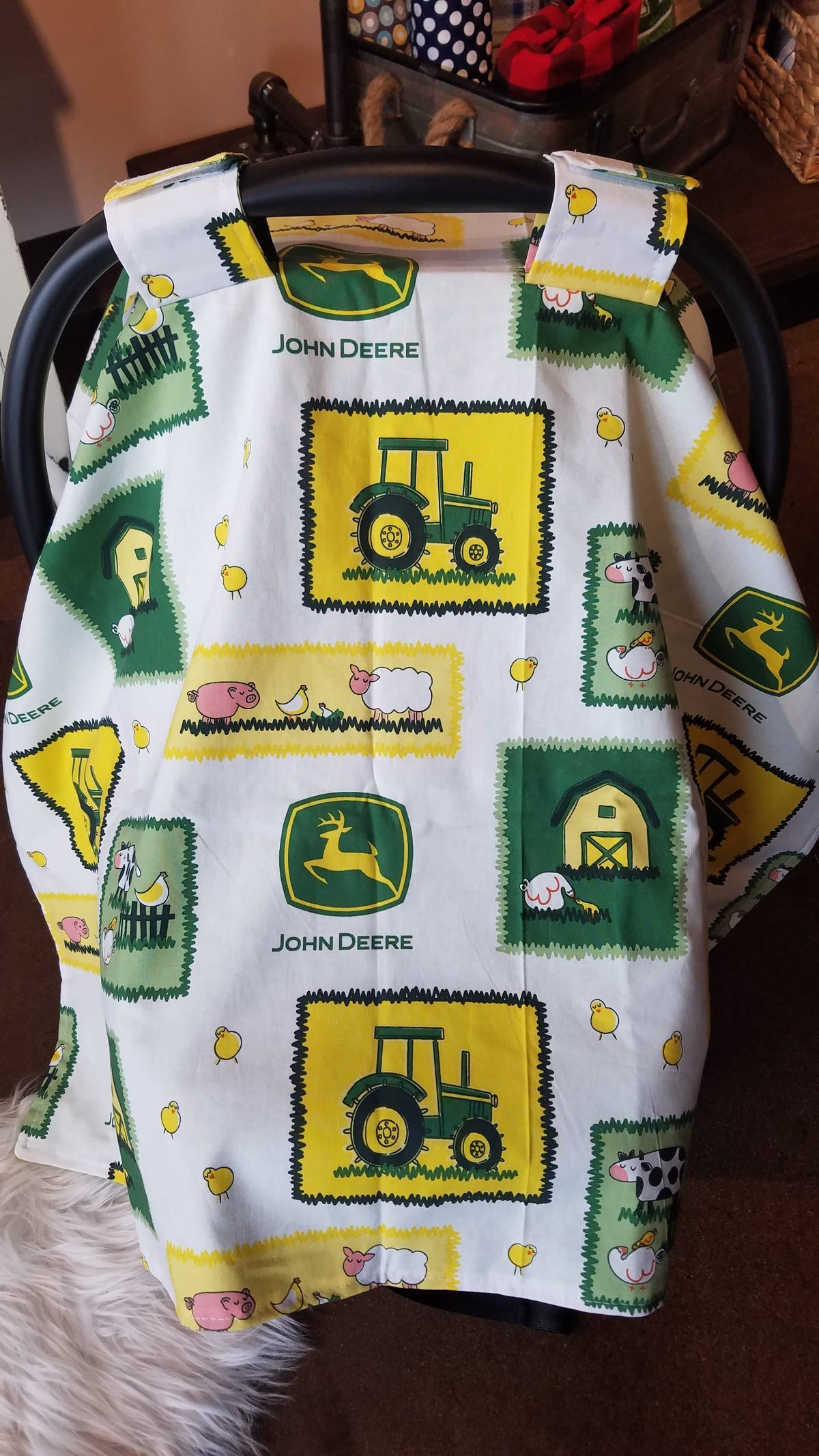 Carseat Tent- John Deere Carseat Canopy