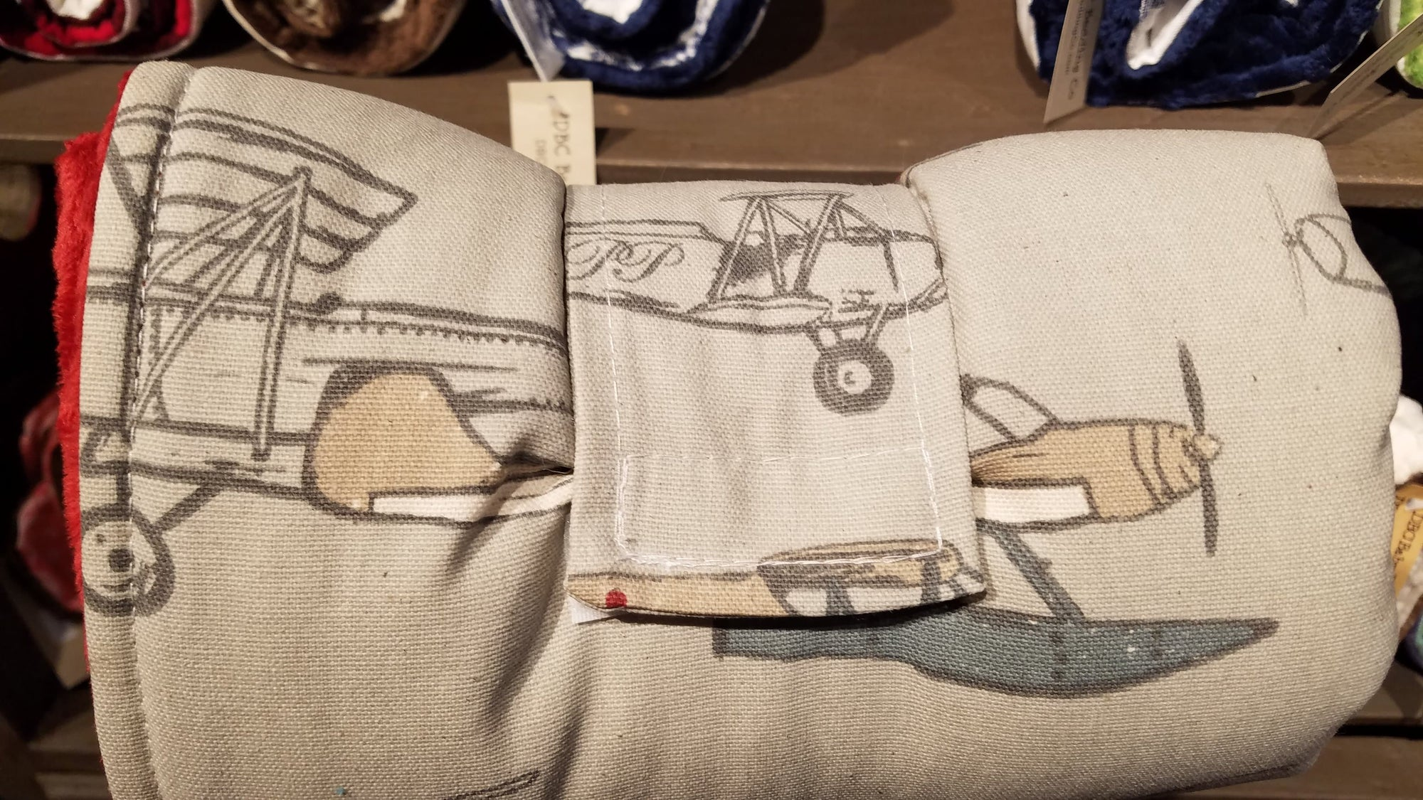 On the Go Changing Pad- Vintage Airplane