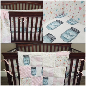 nursery set, farm crib bedding, chicken crib bedding