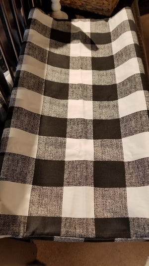 Ready to Ship Boy Crib Bedding - Black Check, Buck, Black Arrows, Red Black Buffalo Check, Aztec, and Black, Woodland Collection