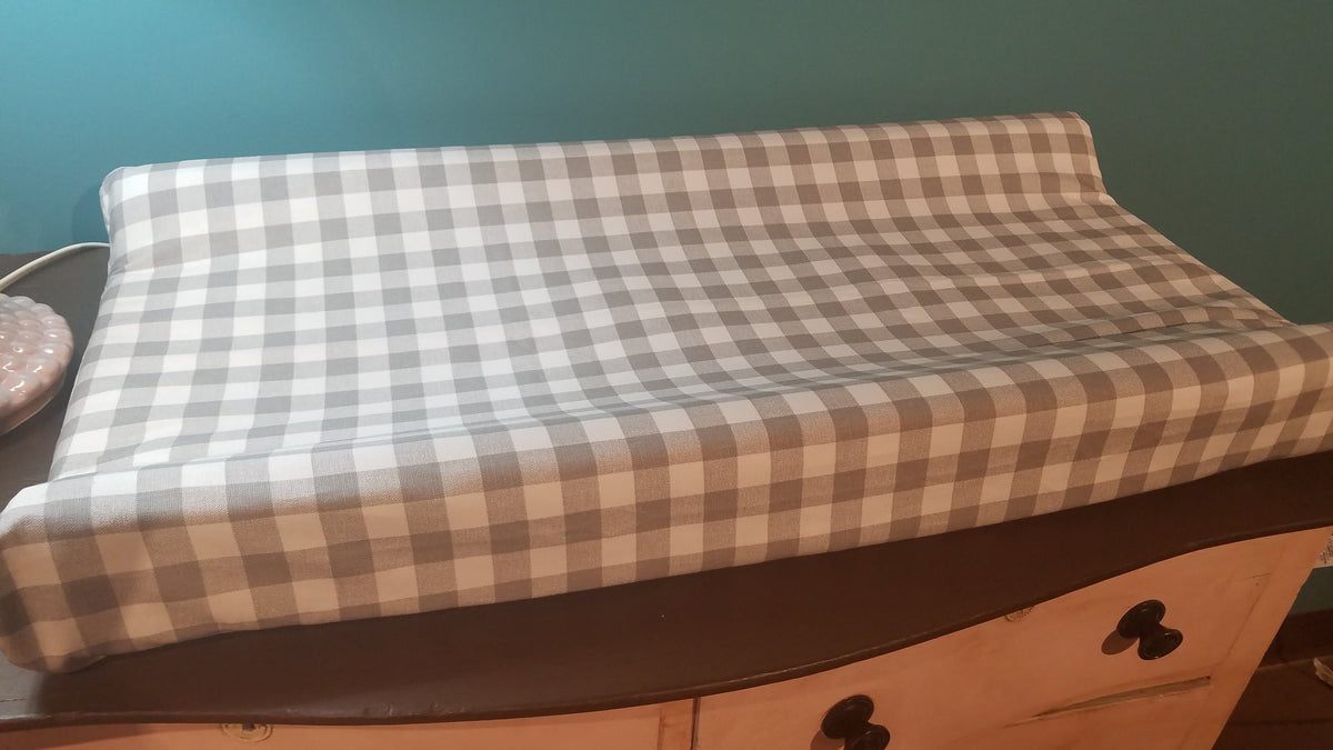 Changing Pad Cover - Gray Check