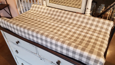 2 Day Ship Neutral Baby Crib Bedding - Arrow, Ecru Check, and Fawn Minky, Woodland Nursery Collection