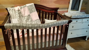 Insta-Ship - Blush Gray Deer Crib Bedding Set - Ships Next Business Day