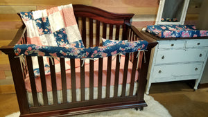 Insta-Ship - Floral and Arrow Crib Bedding Set - Ships Next Business Day