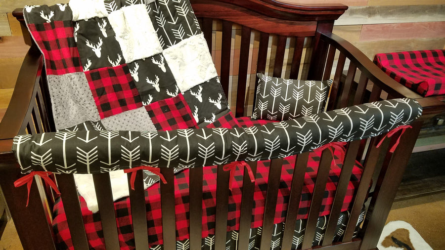 Insta-Ship - Black Antler Crib Bedding Set - Ships Next Business Day