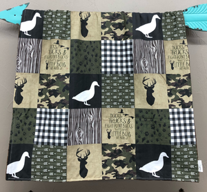 New Design Custom Boy Crib Bedding- Ducks, Trucks, Eight Point Bucks, Black Arrow, Fawn Minky, Duck and Buck Crib Bedding