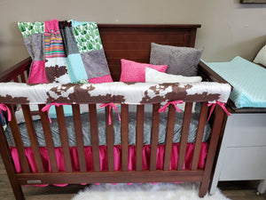 New Live Shopping Specials Girl Crib Bedding- Cactus, Serape, Cowhide Bedding Collection