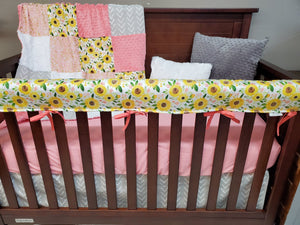 New Live Shopping Specials Girl Crib Bedding- Sunflower Bedding Collection
