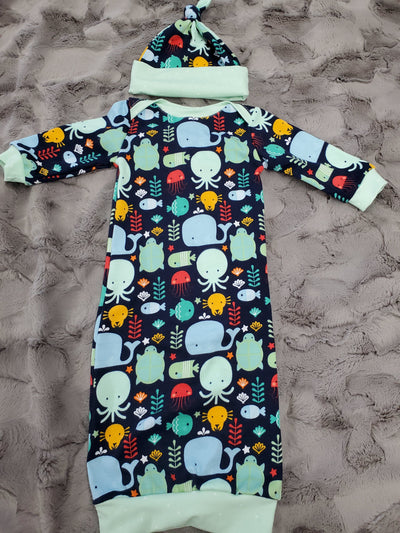 Baby Gown - Ocean Friends Going Home Outfit