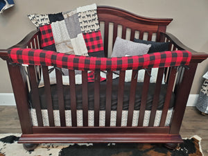 New Live Shopping Specials Boy Crib Bedding - Black Angus, Rustic Wood, Red Black Check, Angus Cow Bedding Set