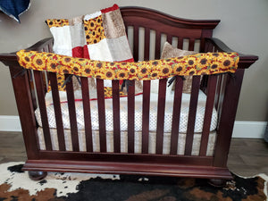 New Live Shopping Specials Girl Crib Bedding - Sunflower and Fawn Minky Bedding Set