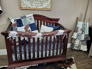 New Live Shopping Specials Boy Crib Bedding - Cactus and Cowhide Bedding Set