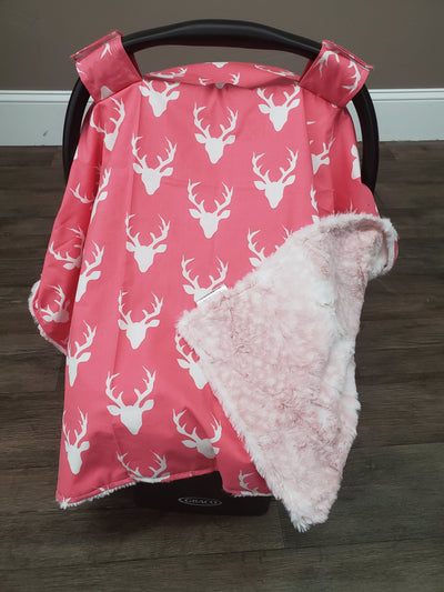 Carseat Tent - Buck in Pink