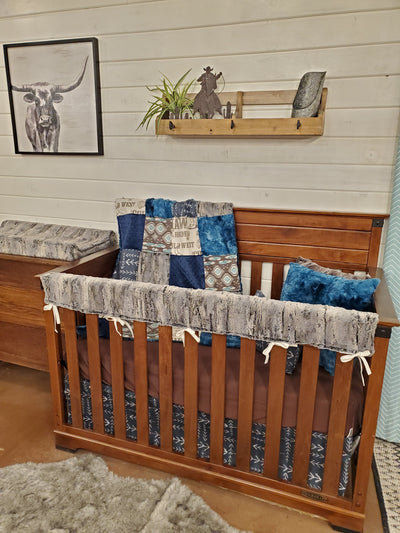 Custom Boy Crib Bedding - Cowboy Collection